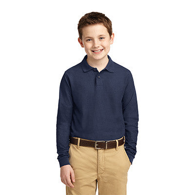 Port Authority Youth Silk Touch Long Sleeve Polo - Printed - EZ Corporate Clothing  - 5