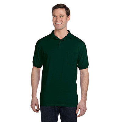 Hanes 5.5oz, 50/50 Jersey Pocket Polo - EZ Corporate Clothing  - 4