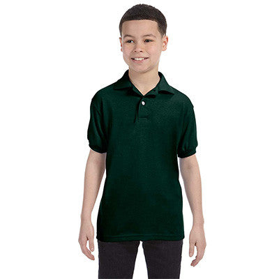 Hanes Youth 50/50 EcoSmart Jersey Knit Polo - EZ Corporate Clothing  - 3