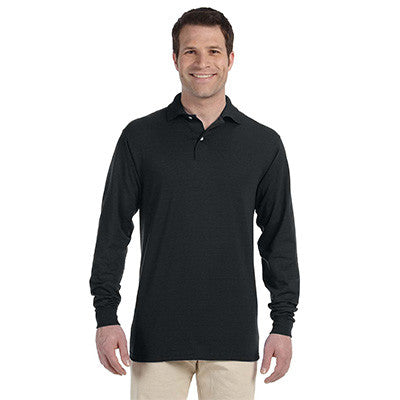 Jerzees 5.6oz, 50/50 Long Sleeve Jersey Polo with SpotShield - EZ Corporate Clothing  - 2