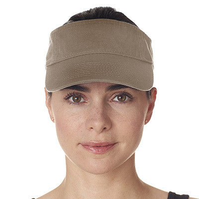 Ultraclub Classic Cut Chino Cotton Twill Visor - EZ Corporate Clothing  - 3
