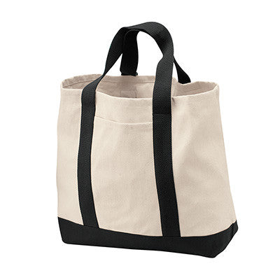 Port & Company Two-Tone Shopping Tote - EZ Corporate Clothing  - 2