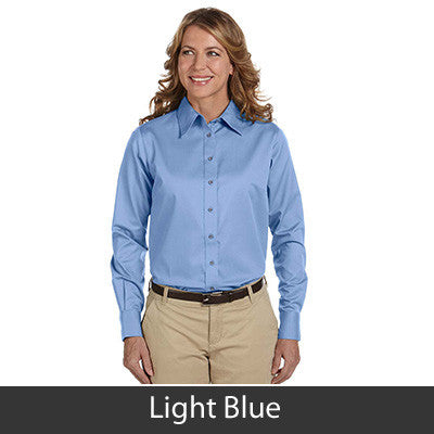 Harriton Ladies Long-Sleeve Twill Shirt With Stain-Release - EZ Corporate Clothing  - 10
