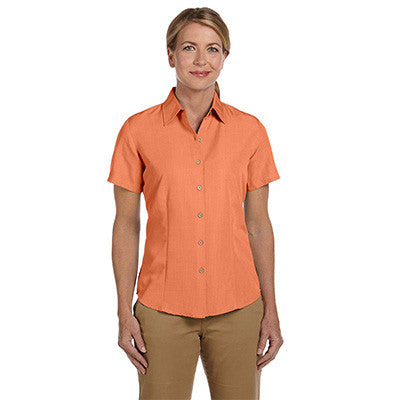Harriton Ladies Barbados Textured Camp Shirt - EZ Corporate Clothing  - 7