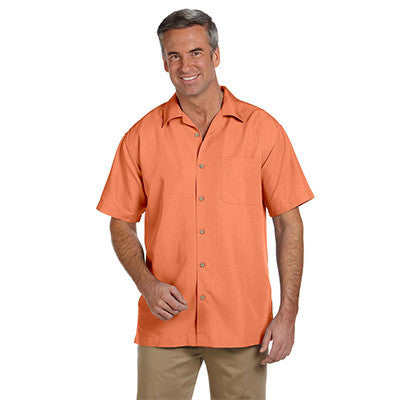 Harriton Mens Barbados Textured Camp Shirt - EZ Corporate Clothing  - 7