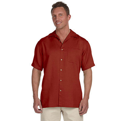 Harriton Mens Bahama Cord Camp Shirt - EZ Corporate Clothing  - 8