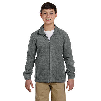 Harriton Youth 8oz. Full-Zip Fleece - EZ Corporate Clothing  - 3