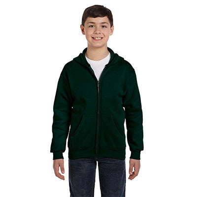 Hanes Youth Comfortblend Ecosmart Full-Zip Hoodie - EZ Corporate Clothing  - 6