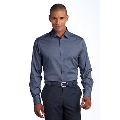 Red House Mens Slim Fit Non-Iron Pinpoint Oxford - EZ Corporate Clothing  - 5