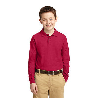 Port Authority Youth Silk Touch Long Sleeve Polo - Printed - EZ Corporate Clothing  - 6