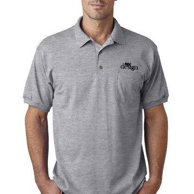 Gildan Adult Dryblend Jersey Polo With Pocket - Printed