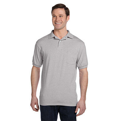 Hanes 5.5oz, 50/50 Jersey Pocket Polo - EZ Corporate Clothing  - 8