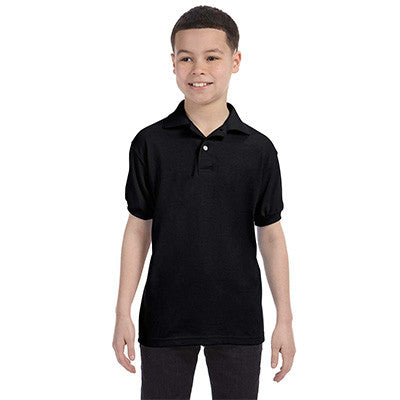 Hanes Youth 50/50 EcoSmart Jersey Knit Polo - EZ Corporate Clothing  - 2