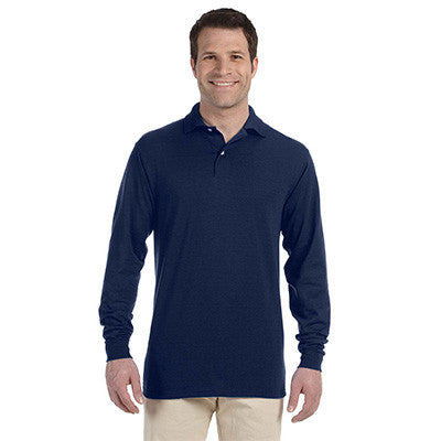Jerzees 5.6oz, 50/50 Long Sleeve Jersey Polo with SpotShield - EZ Corporate Clothing  - 4