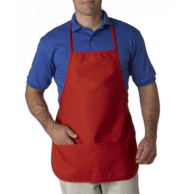 UltraClub Large Two-Pocket Bib Apron - EZ Corporate Clothing  - 5