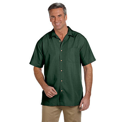 Harriton Mens Barbados Textured Camp Shirt - EZ Corporate Clothing  - 8