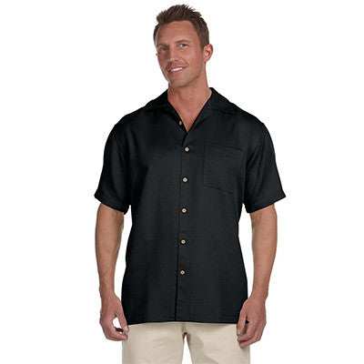 Harriton Mens Bahama Cord Camp Shirt - EZ Corporate Clothing  - 2