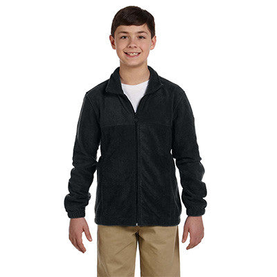Harriton Youth 8oz. Full-Zip Fleece - EZ Corporate Clothing  - 2