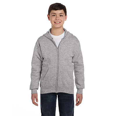 Hanes Youth Comfortblend Ecosmart Full-Zip Hoodie - EZ Corporate Clothing  - 10