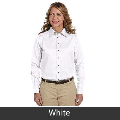 Harriton Ladies Long-Sleeve Twill Shirt With Stain-Release - EZ Corporate Clothing  - 19
