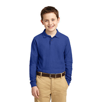 Port Authority Youth Silk Touch Long Sleeve Polo - Printed - EZ Corporate Clothing  - 7