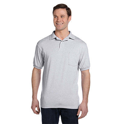 Hanes 5.5oz, 50/50 Jersey Pocket Polo - EZ Corporate Clothing  - 2