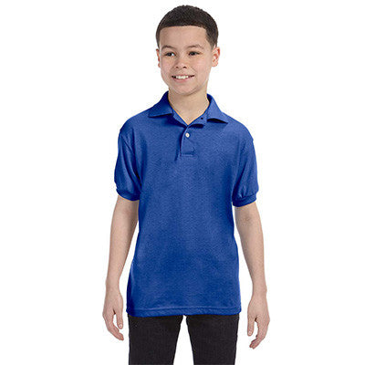 Hanes Youth 50/50 EcoSmart Jersey Knit Polo - EZ Corporate Clothing  - 6