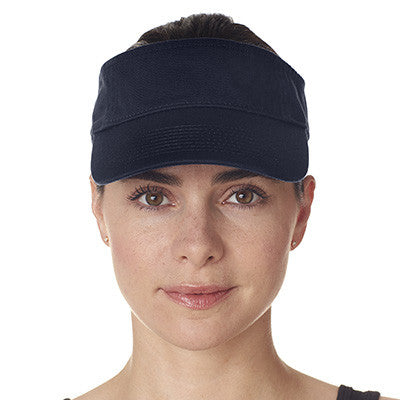 Ultraclub Classic Cut Chino Cotton Twill Visor - EZ Corporate Clothing  - 5