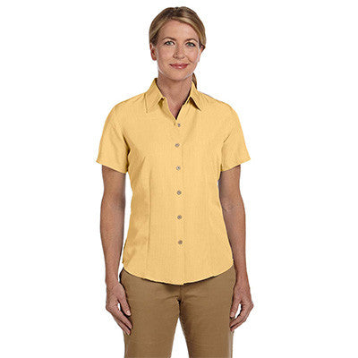 Harriton Ladies Barbados Textured Camp Shirt - EZ Corporate Clothing  - 10
