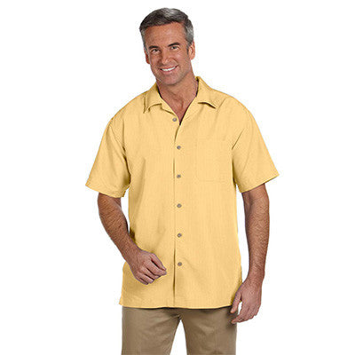 Harriton Mens Barbados Textured Camp Shirt - EZ Corporate Clothing  - 10