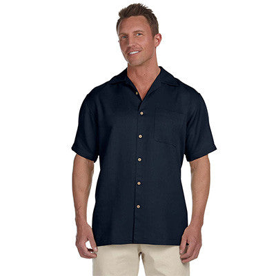 Harriton Mens Bahama Cord Camp Shirt - EZ Corporate Clothing  - 6