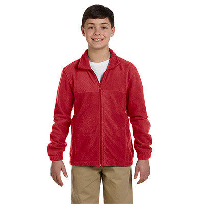 Harriton Youth 8oz. Full-Zip Fleece - EZ Corporate Clothing  - 8
