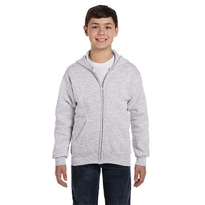 Hanes Youth Comfortblend Ecosmart Full-Zip Hoodie - EZ Corporate Clothing  - 5