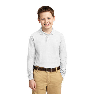 Port Authority Youth Silk Touch Long Sleeve Polo - Printed - EZ Corporate Clothing  - 8