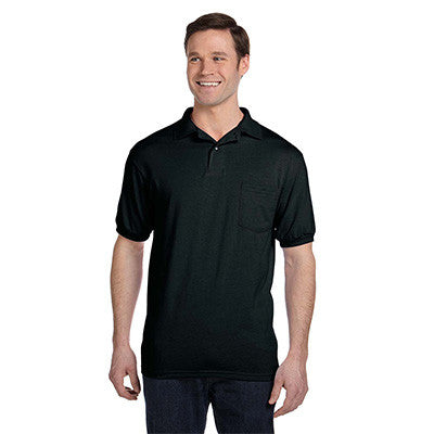 Hanes 5.5oz, 50/50 Jersey Pocket Polo - EZ Corporate Clothing  - 3
