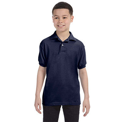 Hanes Youth 50/50 EcoSmart Jersey Knit Polo - EZ Corporate Clothing  - 4