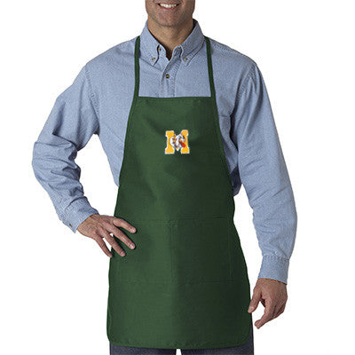UltraClub Long Round Bottom Cotton Twill Apron