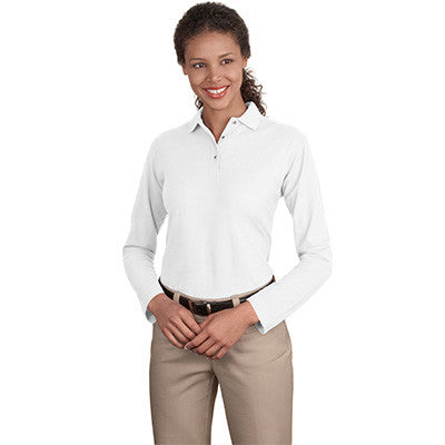 Port Authority Ladies Silk Touch Longsleeve Sport Shirt - EZ Corporate Clothing  - 8