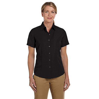 Harriton Ladies Barbados Textured Camp Shirt - EZ Corporate Clothing  - 2