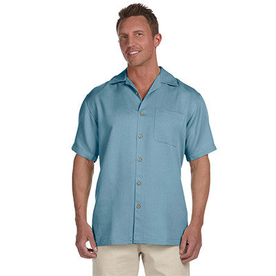 Harriton Mens Bahama Cord Camp Shirt - EZ Corporate Clothing  - 3