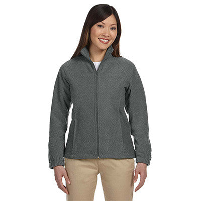 Harriton Ladies 8oz. Full-Zip Fleece - EZ Corporate Clothing  - 3