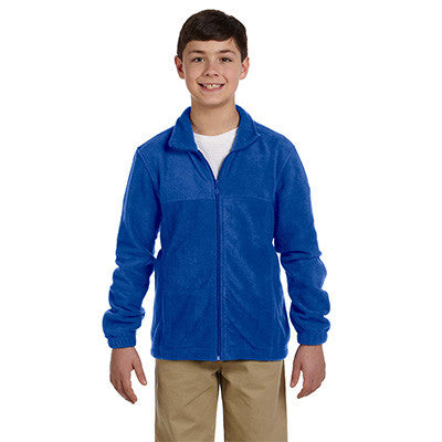 Harriton Youth 8oz. Full-Zip Fleece - EZ Corporate Clothing  - 9