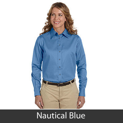 Harriton Ladies Long-Sleeve Twill Shirt With Stain-Release - EZ Corporate Clothing  - 11