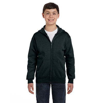 Hanes Youth Comfortblend Ecosmart Full-Zip Hoodie - EZ Corporate Clothing  - 4