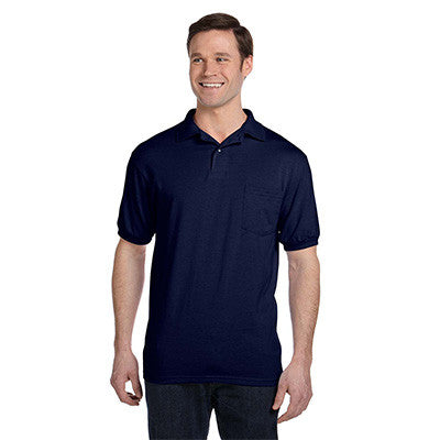 Hanes 5.5oz, 50/50 Jersey Pocket Polo - EZ Corporate Clothing  - 9