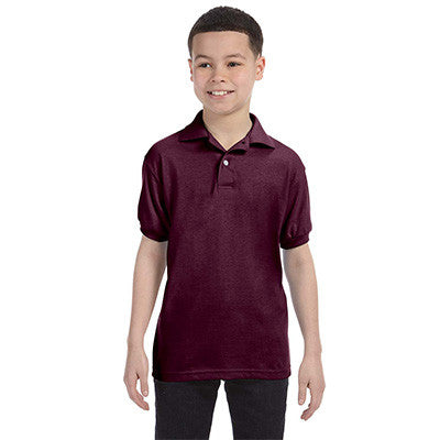 Hanes Youth 50/50 EcoSmart Jersey Knit Polo - EZ Corporate Clothing  - 8