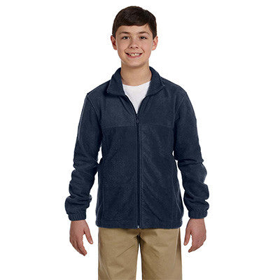 Harriton Youth 8oz. Full-Zip Fleece - EZ Corporate Clothing  - 7