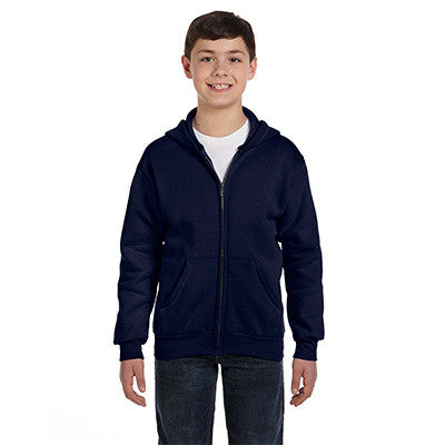 Hanes Youth Comfortblend Ecosmart Full-Zip Hoodie - EZ Corporate Clothing  - 12