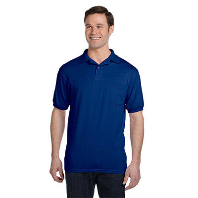 Hanes 5.5oz, 50/50 Jersey Pocket Polo - EZ Corporate Clothing  - 6