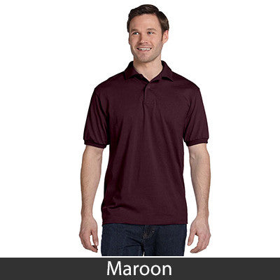 Hanes Adult Comfortblend Ecosmart Jersey Polo - Printed - EZ Corporate Clothing  - 12